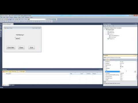 C# Form Load and Button Click Events