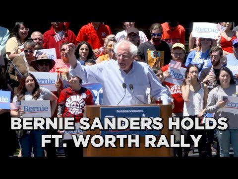 Sen. Bernie Sanders holds rally in Ft. Worth