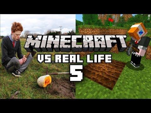 Minecraft vs Gerçek Hayat - { Minecraft vs Real Life