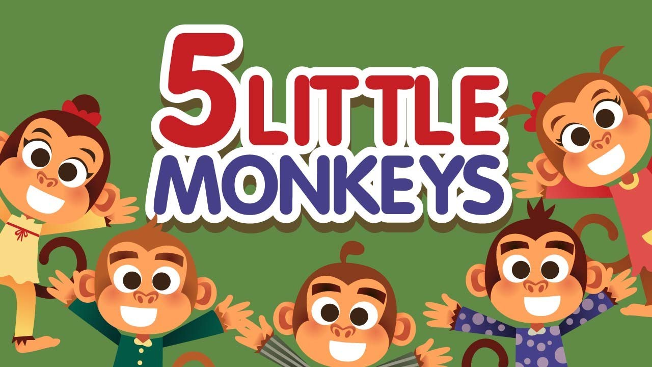 Five Little Monkeys Jumping On The Bed Nursery Rhymes Song With Lyrics Cartoon Kids Songs Youtube
