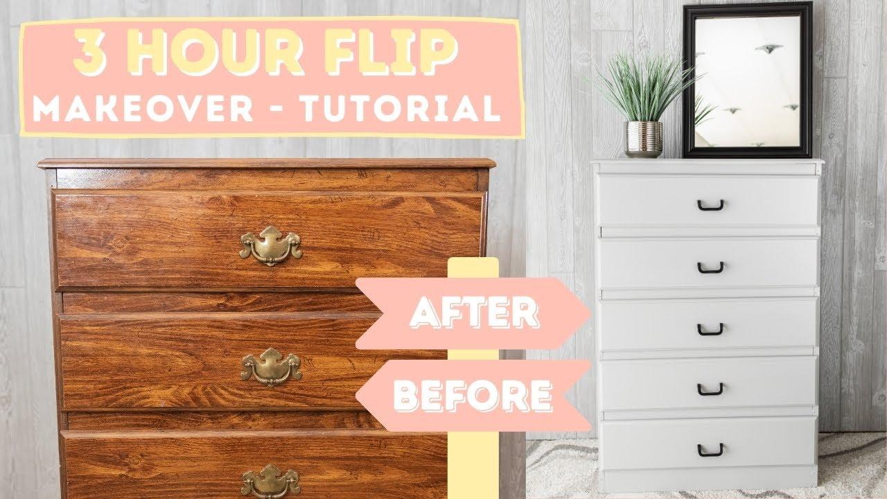 | DIY Furniture Makeover | Dresser Transformation | Facebook Flip | FURNITURE FLIPPING TEACHER |