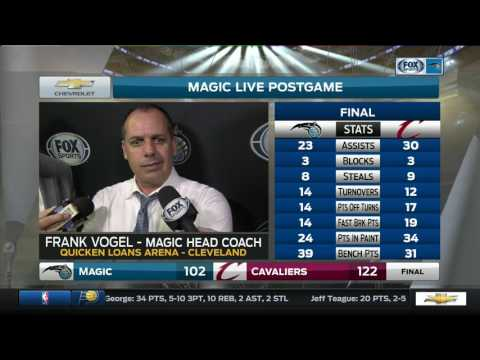 Frank Vogel -- Orlando Magic at Cleveland Cavaliers 04/04/2017
