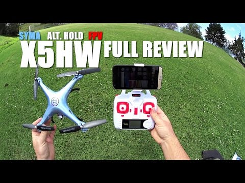 SYMA X5HW FPV Alt Hold QuadCopter -Full Review- [UnBox, Inspection, Setup, Flight Test, Pros & Cons]
