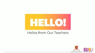 Hellos from Our Teachers!