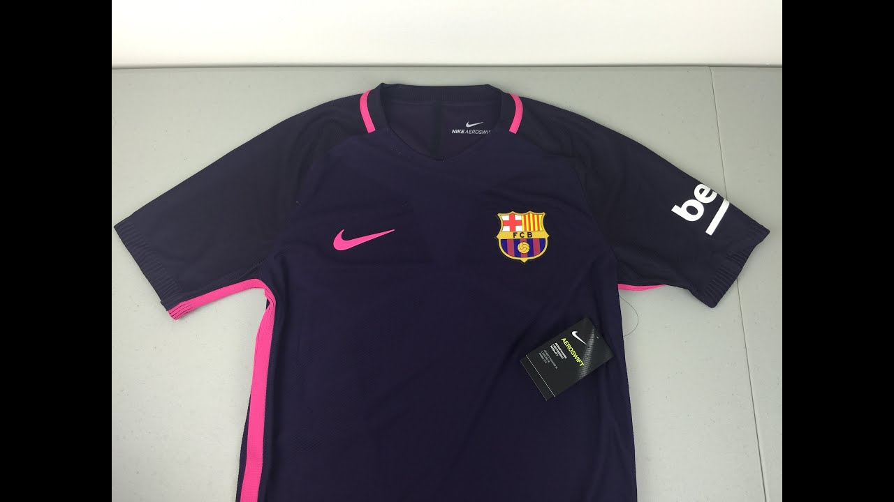 c7efbbb04 2016 2017 FC Barcelona Authentic Away Jersey Review  4K  - YouTube