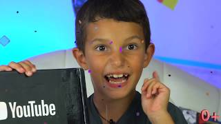 Unboxing Silver Play Button Kids Channel YouTube #StefanChico TV #YouTubeCreatorAwards