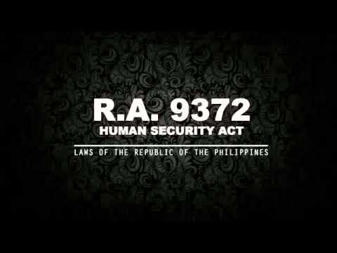 RA 9372: HUMAN SECURITY ACT