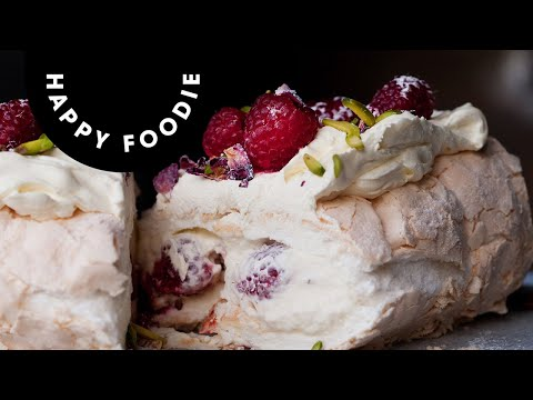 Meringue Roulade with Pistachios and Fresh Raspberries | Yotam Ottolenghi