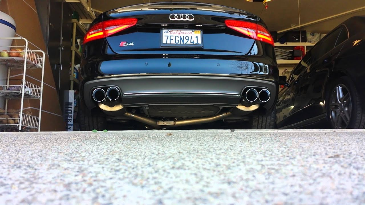 Audi s4 awe touring exhaust w resonated dps cold start revs audi s4 awe touring exhaust w resonated dps cold start revs youtube publicscrutiny Gallery