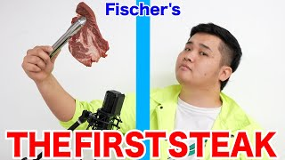 Fischer's Frying Steak in One Take is Too Funny! lol [THE FIRST STEAK]