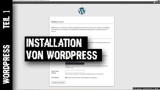 Wordpress 4.3 - Die Installation