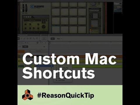 Custom Mac Shortcuts: Reason QuickTips