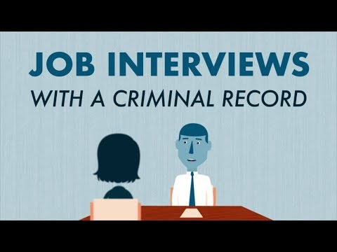 Interviewing for a Job with a Criminal Record