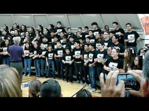 Rocking around by Pasadena's Southmore intermediate school Choir