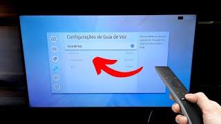 Como DESLIGAR o GUIA DE VOZ na TV SAMSUNG