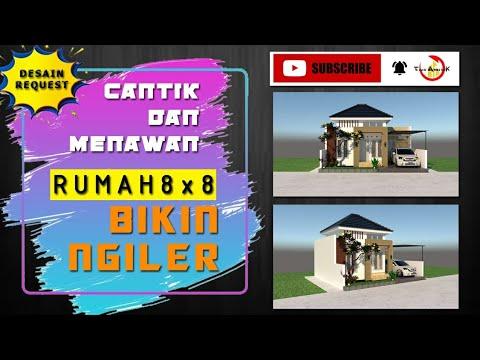 desain rumah minimalis ukuran 8x8 2021 - youtube