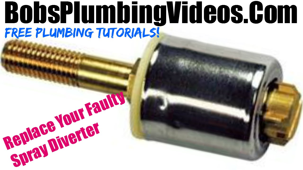 how to replace a kitchen spray diverter or hose - youtube