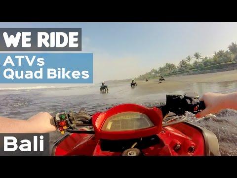 Riding ATVs Quad Bikes in Bali, Indonesia