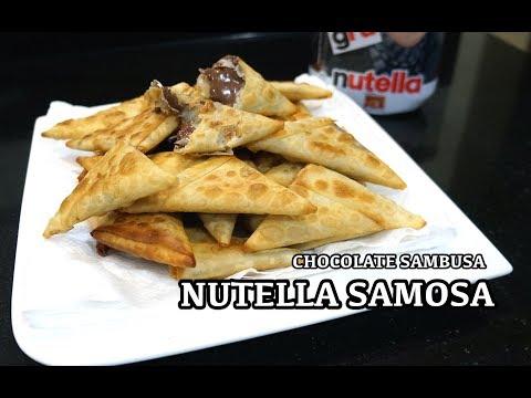Nutella Samosa Recipe - Chocolate Sambusa - Easy n Super Tasty