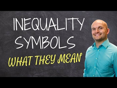 What is an inequality statement and symbol represent and mean