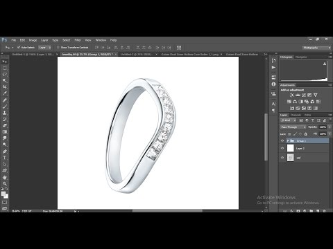 High end jewellery retouching