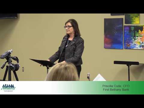 Priscilla Cude, CFO of First Bethany Bank