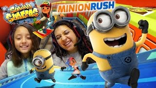 FGTEEV Mom & Lex play Minion Rush - Subway Surfers! Who can run longer?!?! Vs. Battle thumbnail