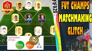 FIFA 20 FUT CHAMPS MATCHMAKING GLITCH  * tested * not clickbait *