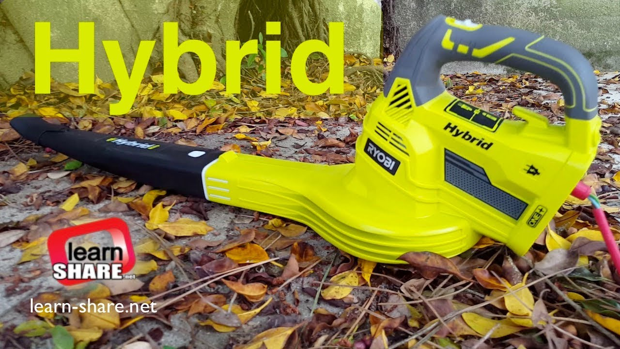 Ryobi Hybrid Blower Review 18V 4Ah Battery and Electric Leaf Blower