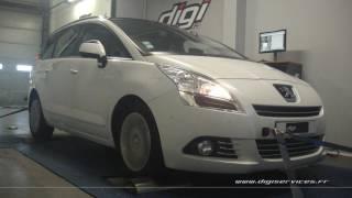Peugeot 5008 1.6 hdi 112cv Reprogrammation Moteur @ 136cv Digiservices Paris 77 Dyno