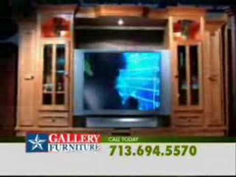Gallery Furniture Entertainment Center Commercial Youtube