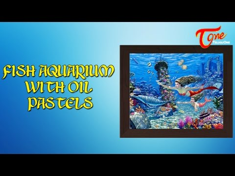 Making Of Fish Aquarium With Oil Pastels Using Paper Quilling
