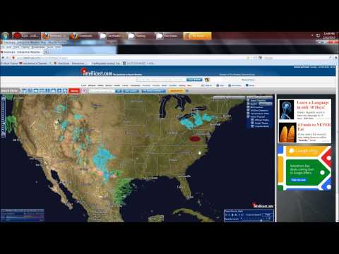 2/12/2012 -- Severe Weather brewing in South USA  -- winter storm coming to midwest