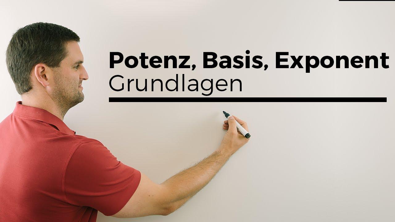 Potenz, Potenzen, Basis, Exponent, Grundlagen | Mathe by Daniel Jung ...