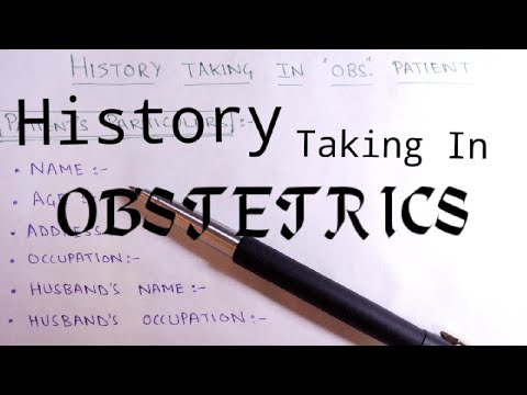 How to take History in Obstetric Patients || History Taking in OBSTETRIC  Patient ||