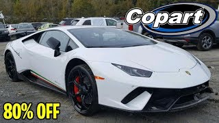 Checking Out The World's Cheapest Supercars At Copart Auto Yard Auction! Salvage Hunt