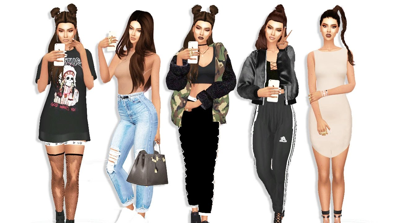 "The Sims 4: Instagram Baddie ""LOOKBOOK"" + ALL CC LIST ..."