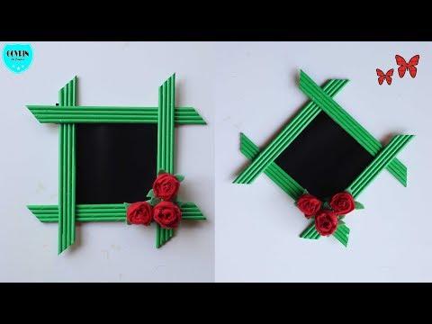 Ide Kreatif Membuat Bingkai Foto Dari Kertas Diy Photo Frame
