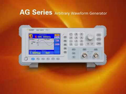 Generadores arbitrarios de forma de onda serie AG de OWON