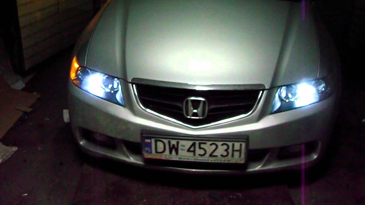 What Are Hid Headlights >> HONDA ACCORD ŚWIATŁA DO JAZDY DZIENNEJ W REFLEKTORZE - YouTube