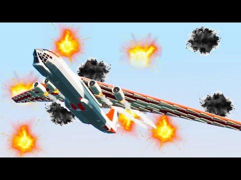 200 Flak Cannons Against Jumbo Jet - Brick Rigs Bricksville