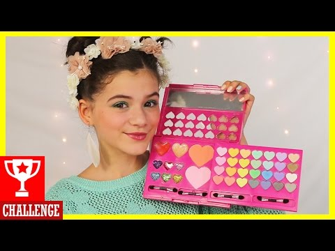 FULL FACE USING ONLY KIDS MAKEUP Challenge! Part 2
