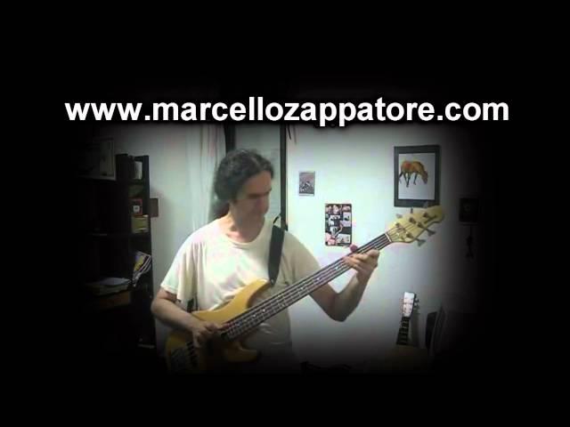 MARCELLO ZAPPATORE - The Chicken Slap Bass solo (Jaco Pastorius)