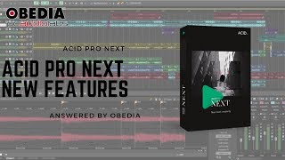Обложка Acid Pro Next New Features Overview