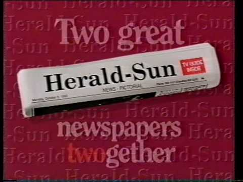 Herald Sun Newspaper ad 1990 when the 2 papers merged