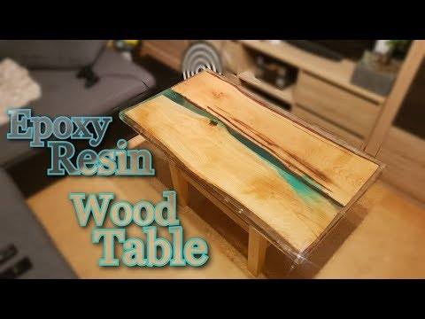 Epoxy Resin and Wood Table   Amazing Timelapse and Fail