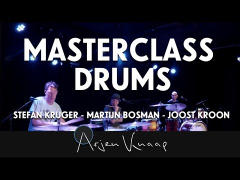 Masterclass drums with Kruger, Bosman and Kroon @De Flux