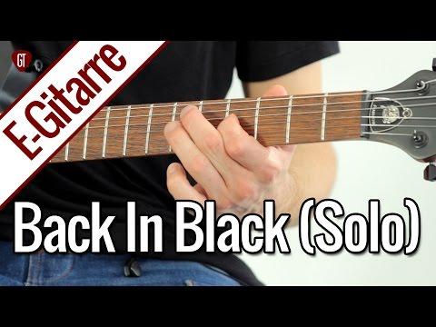 AC/DC - Back In Black (Solo)   E-Gitarren Tutorial