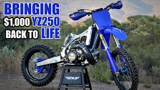 2 stroke dirt bike build time lapse - Yamaha YZ250