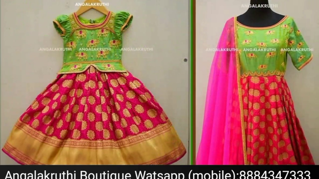 562d831c6 Mother and daughter matching dress designs by Angalakruthi boutique ...